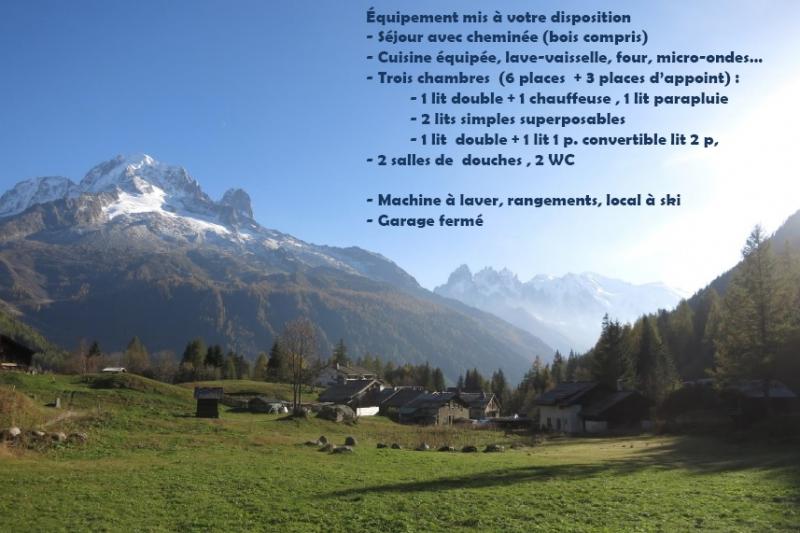 Alpine Chalet facing the MontBlanc alpine mountain