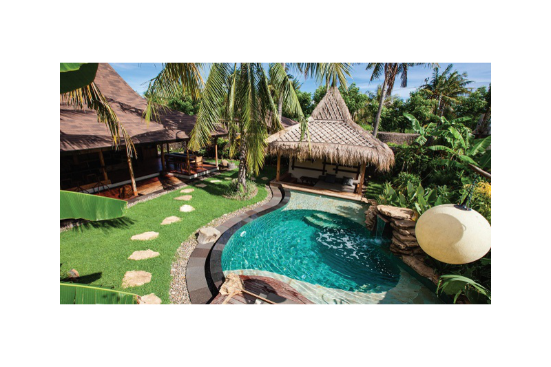 Swimming Pool Antiques : New antique wood modern villa with swimming pool nusa
