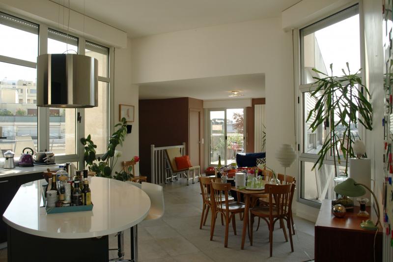 duplex appartement with a terrace and great view paris le de france love home swap. Black Bedroom Furniture Sets. Home Design Ideas