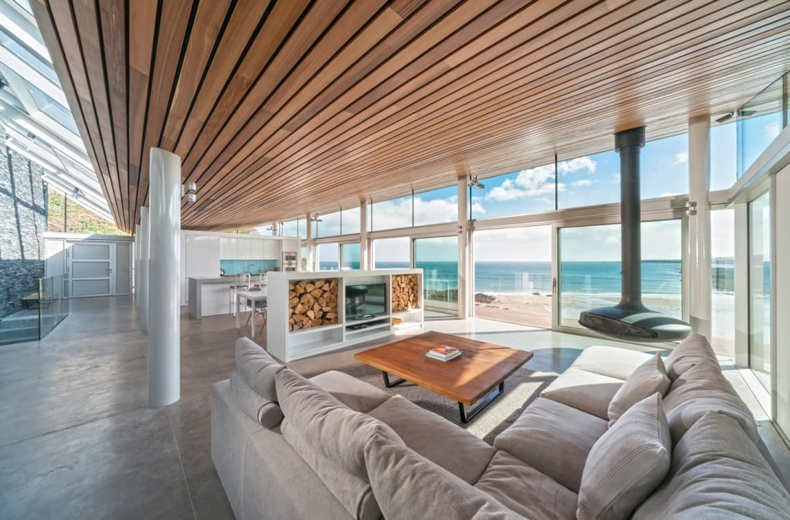 Living room with panoramic views of ocean