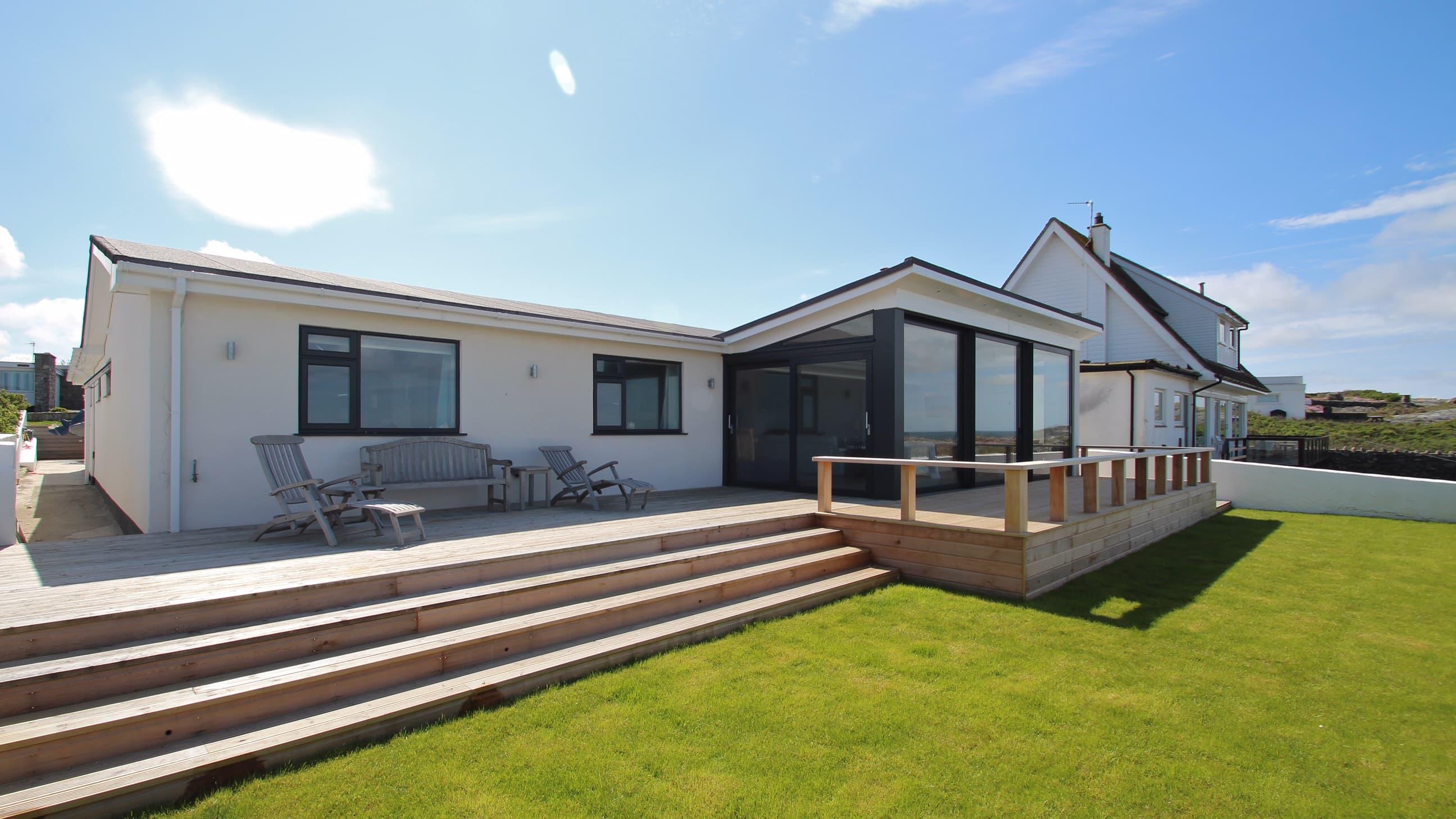 contemporary garden of a modern home