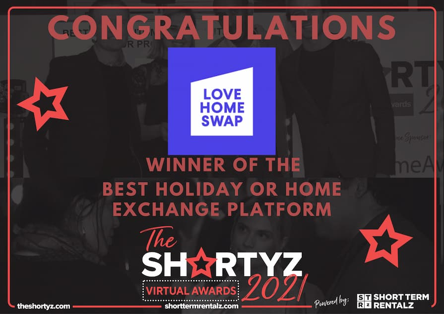 Love Home Swap wins Best Holiday or Home Exchange Platform at The Shortyz 2021