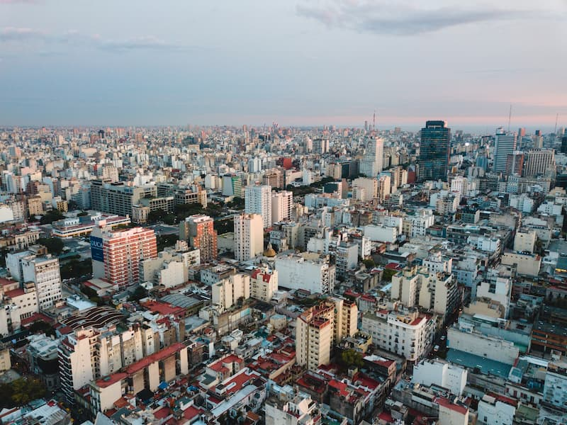View over buildings of Buenos Aires