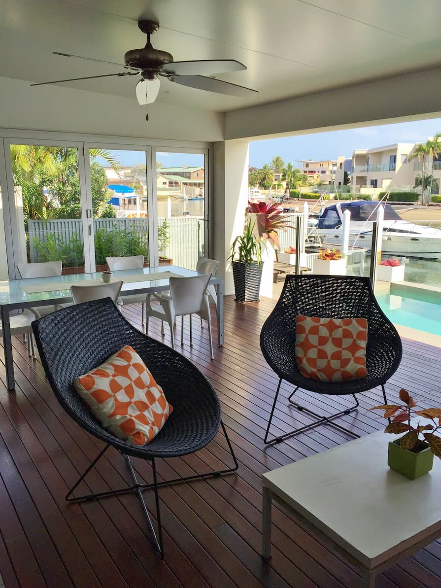 Outdoor deck by Runaway Bay in the Gold Coast