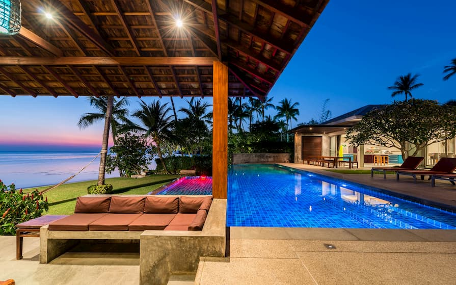 Swimming pool at home swap property in Koh Samui. This is one of the best beach destinations in the world.
