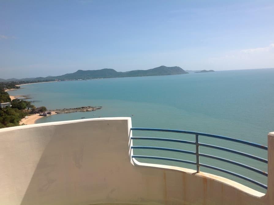 Balcony overlooking Pattaya in Thailand