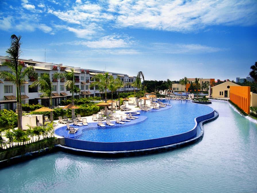 Two swimming pools at Riviera Nayarit in Mexico