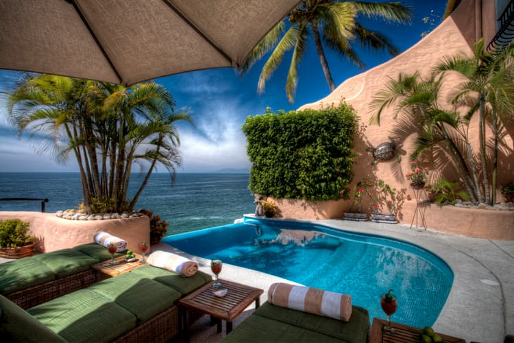 Swimming pool overlooking the Bay of Banderas