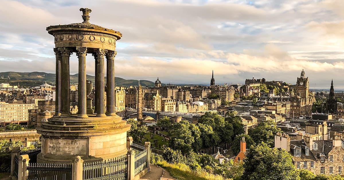 Hilltop views over Edinburgh