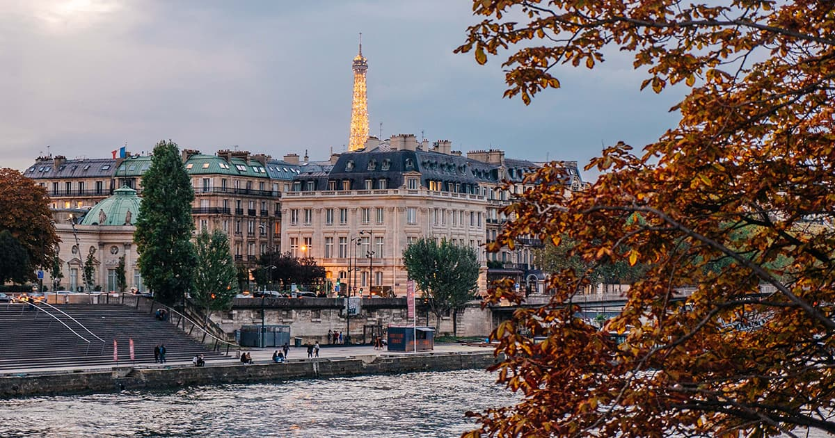 View from the river Seine in Paris
